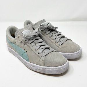 Puma // Classic Blue & Grey Suede Sneaker